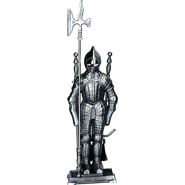 Mini Triple Pleated Soldier Pewter Fire Tool Set With Stand by Uniflame Corporation