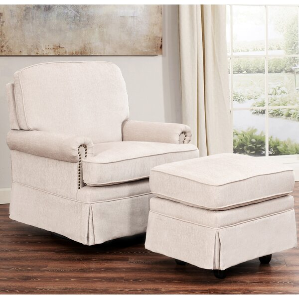 Sitton Swivel Glider and Ottoman by Darby Home Co