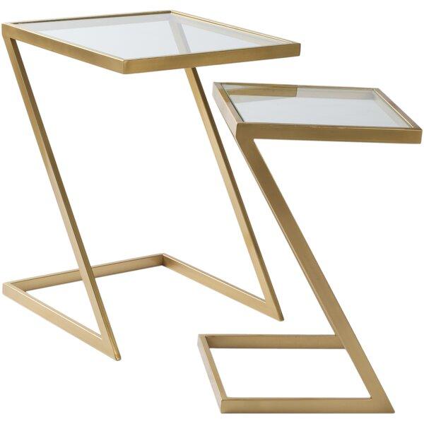 Mustafa 2 Piece Nesting Tables by Mercer41 Mercer41