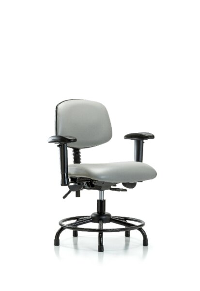 Ian Round Tube Base Desk Height Ergonomic Office Chair by Symple Stuff