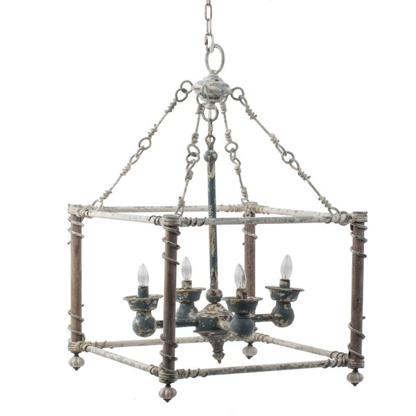 Lupin 4 - Light Lantern Square Chandelier by World Menagerie World Menagerie