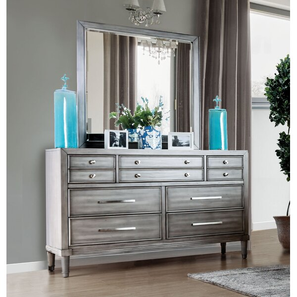 Saratoga 7 Drawer Dresser with Mirror by Laurel Foundry Modern Farmhouse