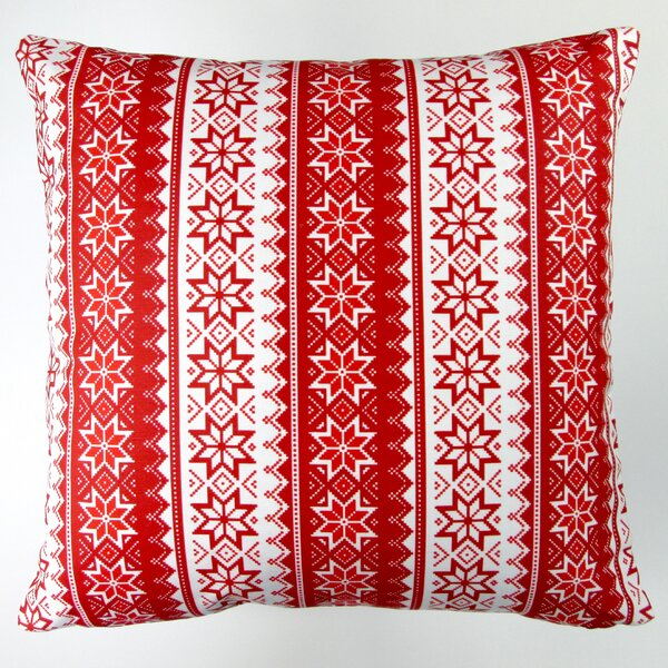 Christmas Stars Stripes Throw Pillow Cover by Artisan Pillows