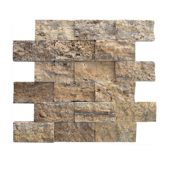 2 x 4 Natural Stone Mosaic Splitface Tile in Alpine by QDI Surfaces
