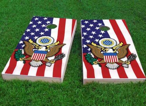 United States Seal Cornhole Game (Set of 2) by Custom Cornhole Boards
