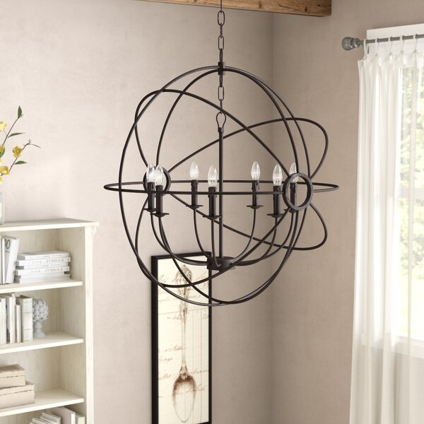 Padilla 7-Light Candle Style Globe Chandelier By One Allium Way