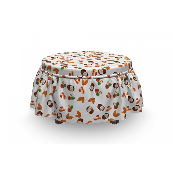 Assortment Of Nuts Ottoman Slipcover (Set Of 2) By East Urban Home