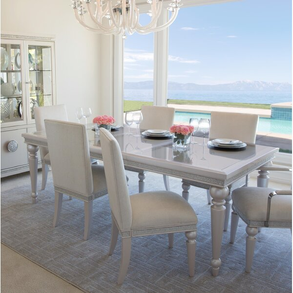 Glimmering Heights Extendable Dining Table by Michael Amini