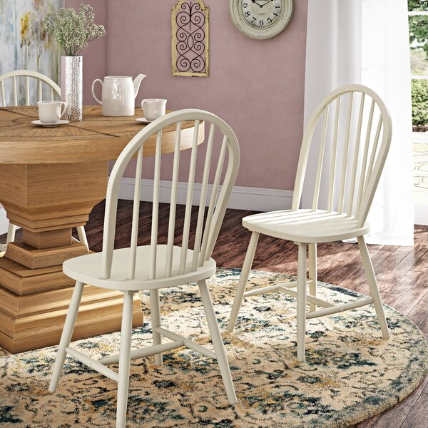 Geraldine Westminster Solid Wood Dining Chair (Set of 2) by August Grove
