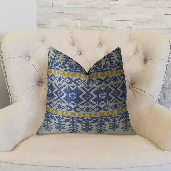 Aztec City Double Sided Throw Pillow by Plutus Brands
