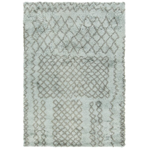 Altamont Hand-Knotted Teal/Gray Area Rug by Foundry Select