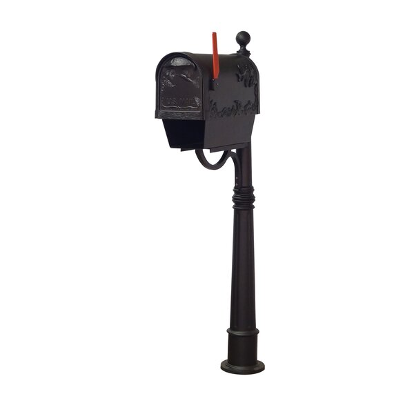 Hummingbird Curbside Locking Mailbox with Ashland Post Included by Special Lite Products