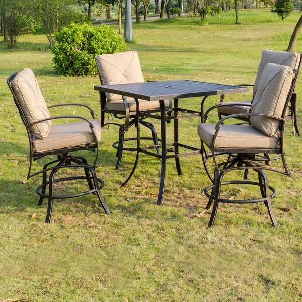 Kemper 5 Piece Bar Height Dining Set with Cushions by Darby Home Co