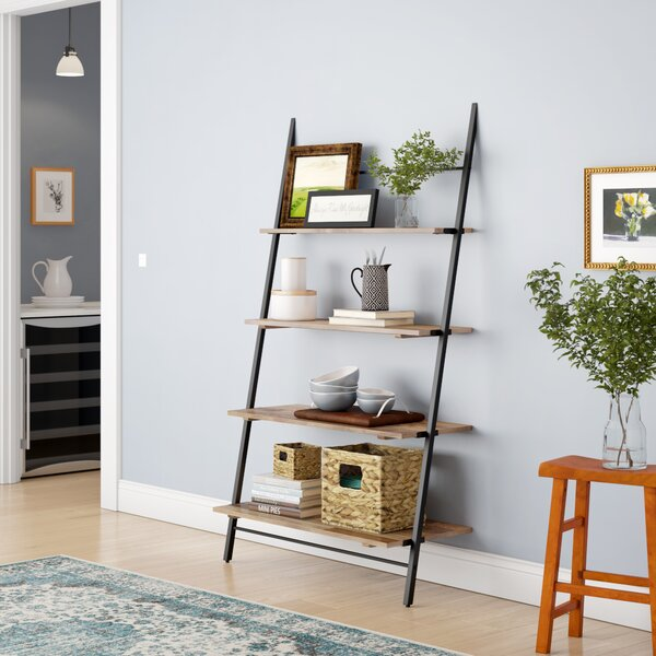 Barnard Shelf Ladder Bookcase by Union Rustic