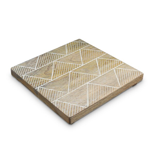 Gruver Square Mango Wood Trivet by Bungalow Rose
