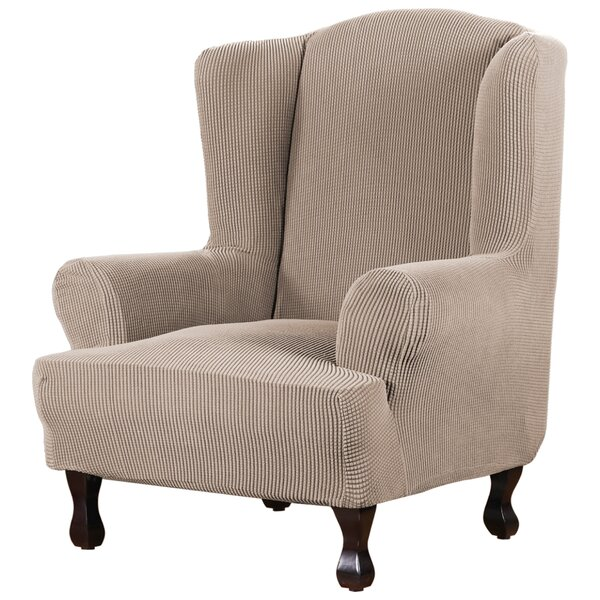 Outdoor Furniture Super Stretch Stylish Box Cushion Wingback Slipcover
