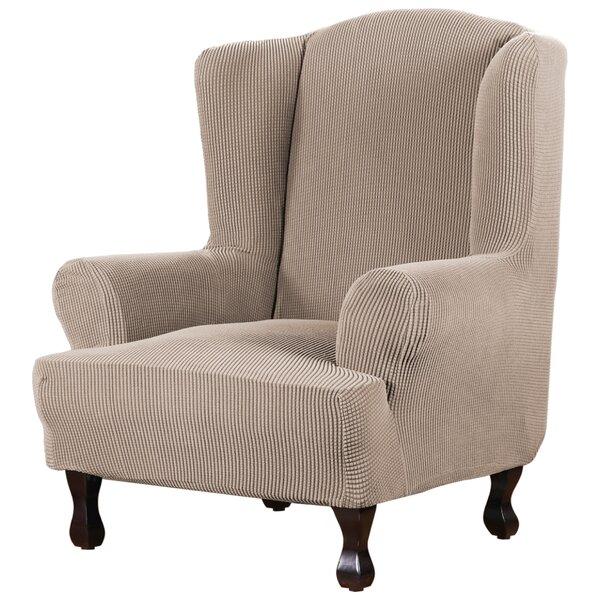 Patio Furniture Super Stretch Stylish Box Cushion Wingback Slipcover