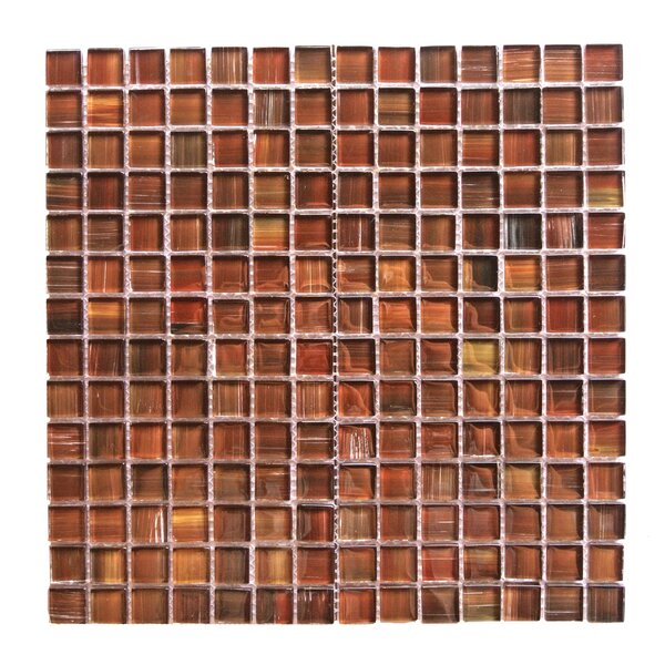 Handicraft II 0.75 x 0.75 Glass Mosaic Tile in Dark Brown by Abolos