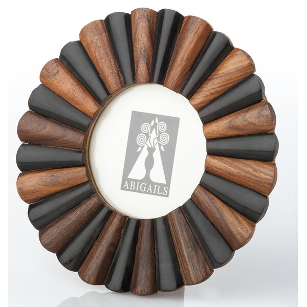 Scalloped Horn and Wood Picture Frame by Abigails