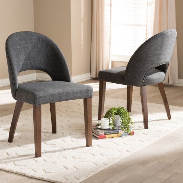 Cropper Mid-Century Upholstered Dining Chair (Set of 2) by George Oliver