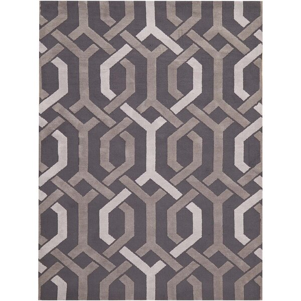 Stoke-on-Trent Hand-Tufted Dark Gray Area Rug by House of Hampton