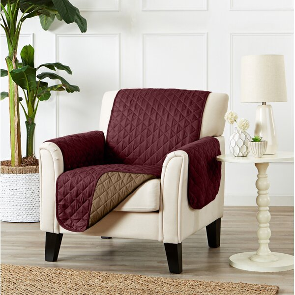 Review Quilted Box Cushion Armchair Slipcover