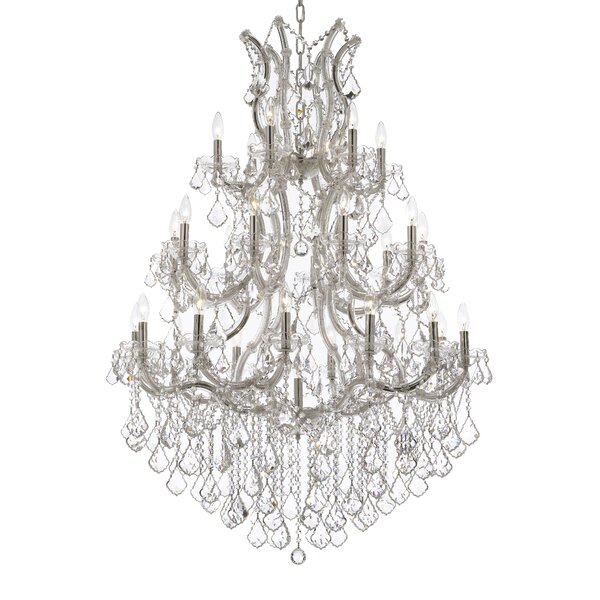 Edolie 28 - Light Candle Style Tiered Chandelier By Rosdorf Park