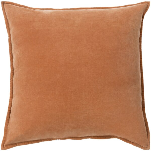 Burnt Orange Velvet Pillow Wayfair
