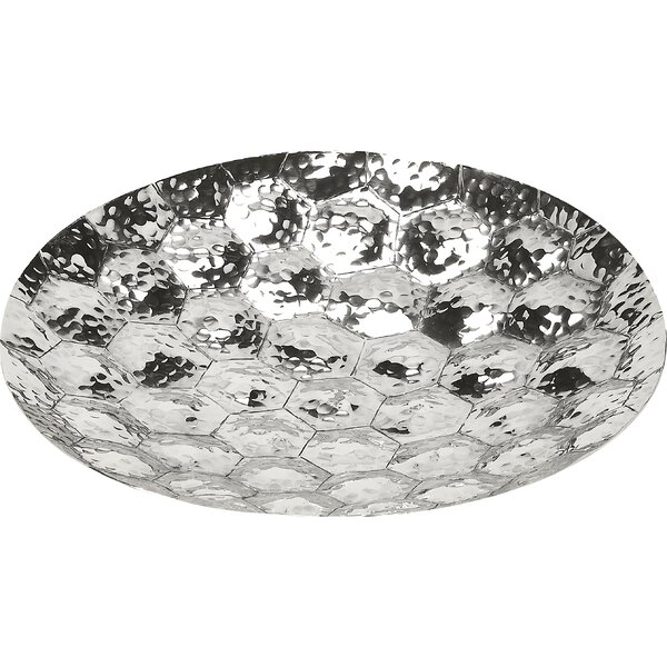 Fakhar Prismatic Hammered Platter by Bungalow Rose