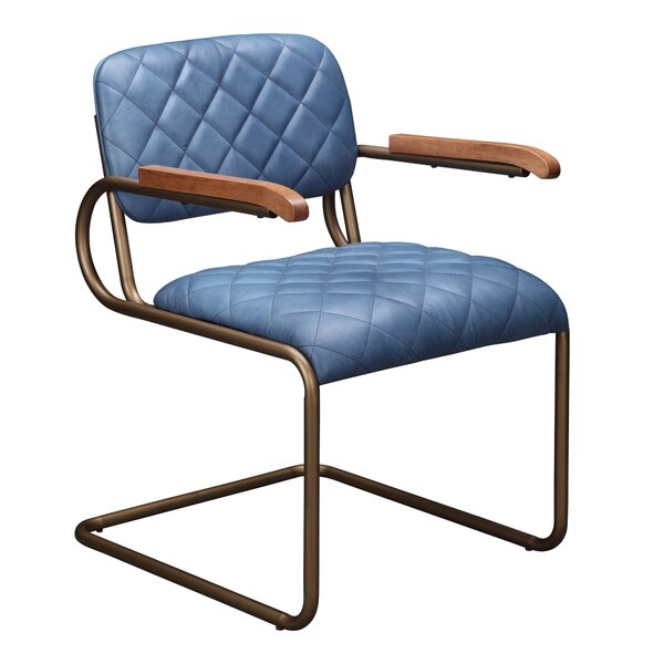 Pennington Genuine Leather Upholstered Dining Chair by 17 Stories