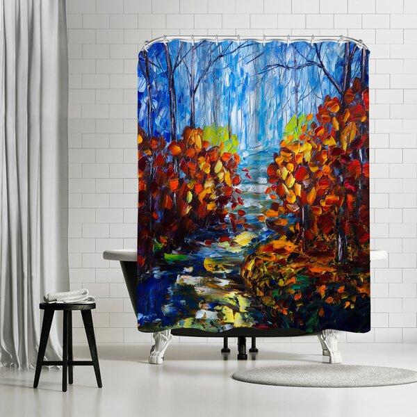 OLena Art Misty Path Shower Curtain by East Urban Home