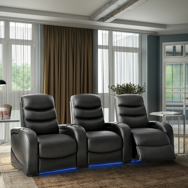 Stealth HR Series Curved Home Theater Recliner (Row Of 3) By Winston Porter