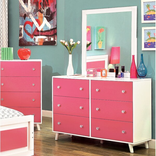 Frew 6 Drawer Double Dresser by Red Barrel Studio