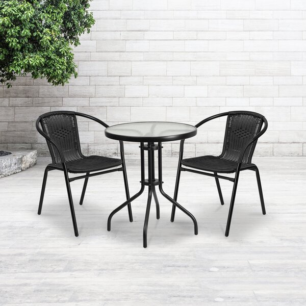 Almyra 3 Piece Bistro Set by Zipcode Design
