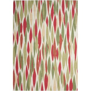 "Sun n' Shade ""Bits & Pieces"" Red/Green Indoor/Outdoor Area Rug"