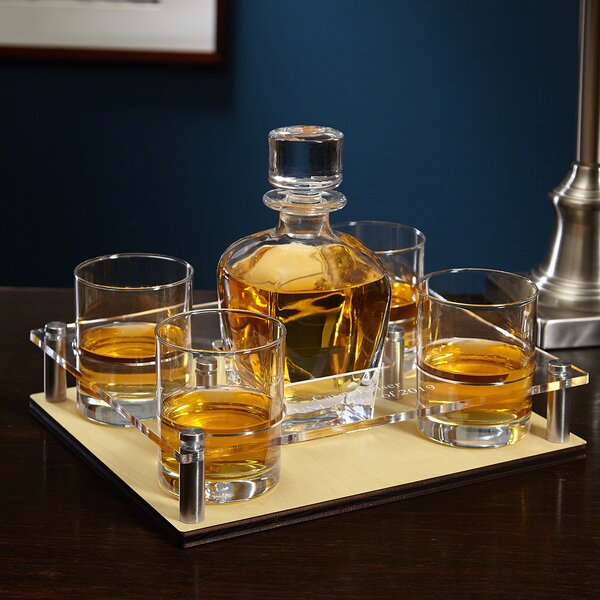 Personalized 6 Piece Beverage Serving Set by Home Wet Bar