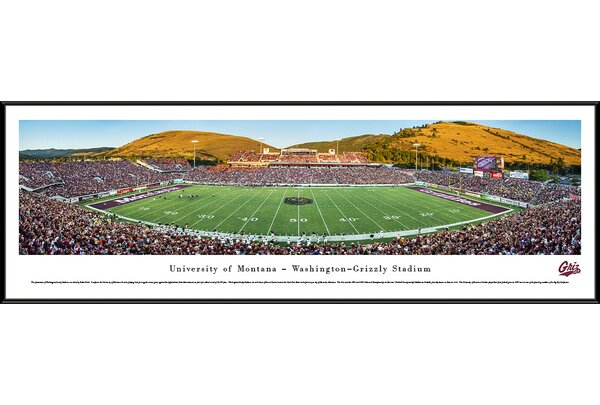 NCAA Montana, University of by Robert Pettit Framed Photographic Print by Blakeway Worldwide Panoramas, Inc