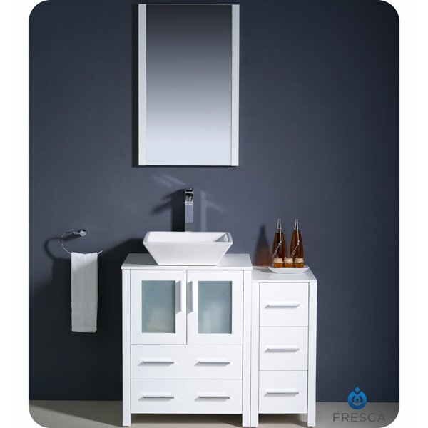 Torino 36 Single Bathroom Vanity Set with Mirror by Fresca