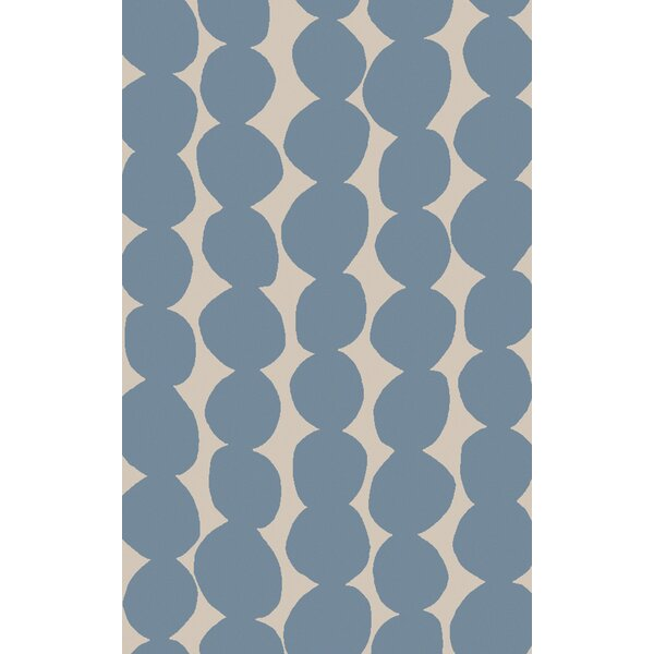 Textila Hand Woven Wool Sky Blue Area Rug by Lotta Jansdotter