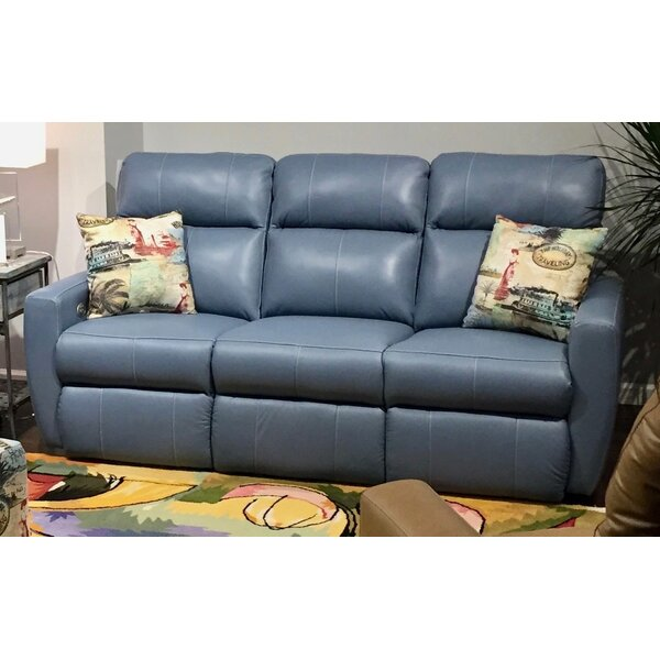 New Look Collection Knock Out Leather Reclining Sofa by Southern Motion by Southern Motion