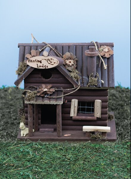 Hunting Lodge 10 in x 7 in x 6 in Birdhouse by Land and Sea