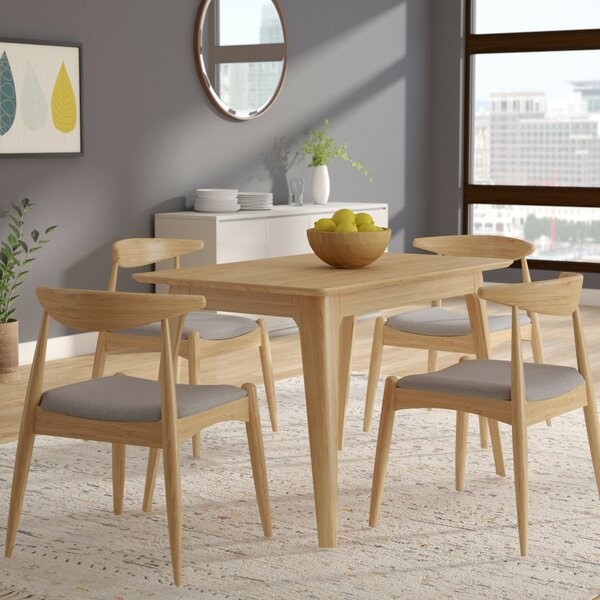 Millie 5 Piece Mid Century Wood Dining Set by Langley Street