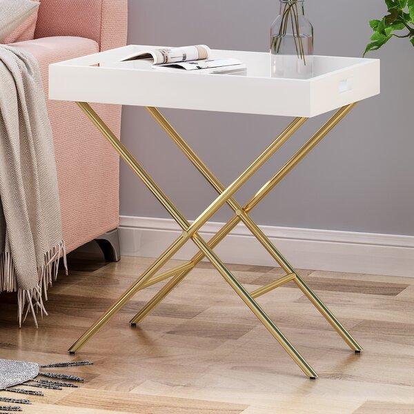 Hofstetter Tray Top Cross Legs End Table By Mercer41