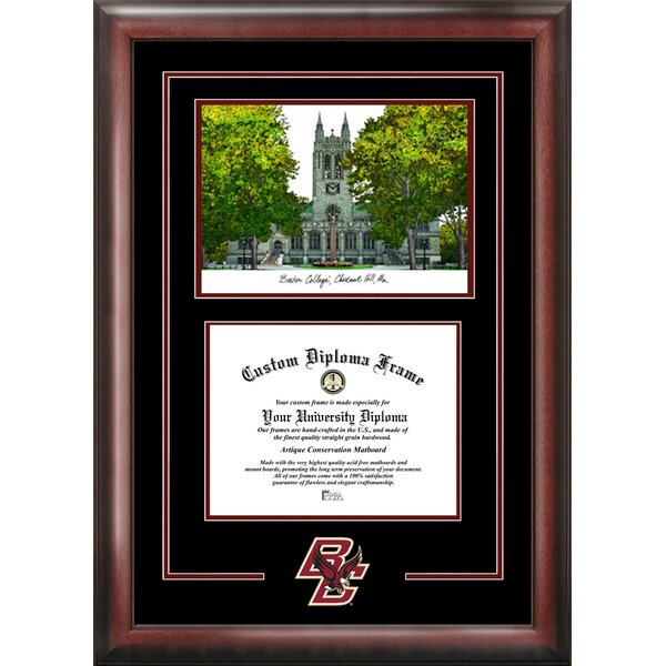 NCAA Boston College Spirit Graduate Diploma with Campus Images Lithograph Picture Frame by Campus Images