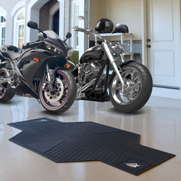 NBA Oklahoma City Thunder Motorcycle Garage Flooring Roll in Black by FANMATS