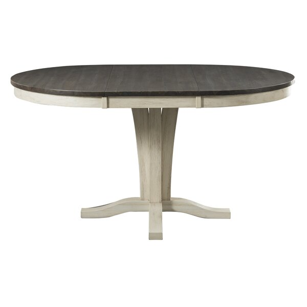 Scales Extendable Solid Wood Dining Table by Gracie Oaks
