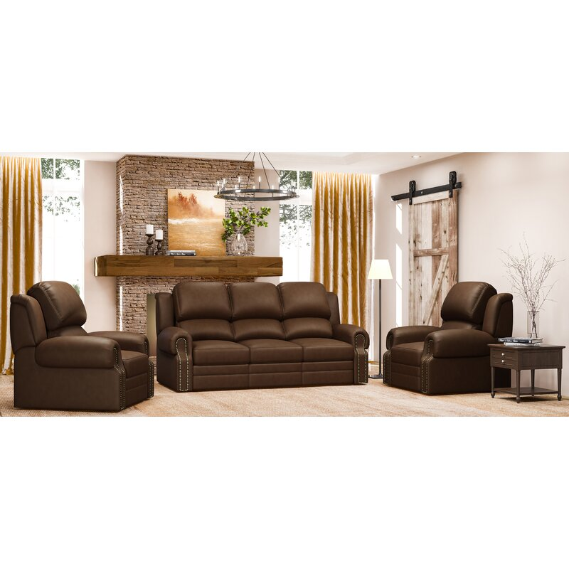 Leather Reclining Living Room