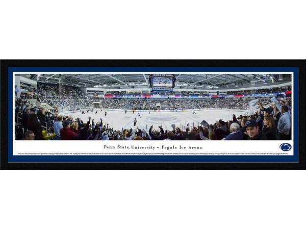 NCAA Penn State University - Hockey by Christopher Gjevre Framed Photographic Print by Blakeway Worldwide Panoramas, Inc