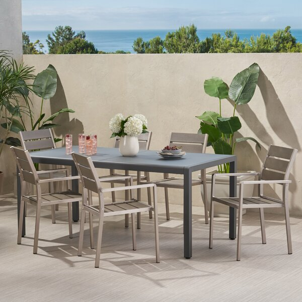 Brookmount Outdoor 7 Piece Dining Set by Winston Porter