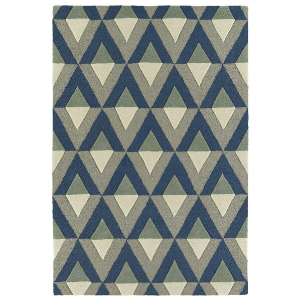 Serpens Handmade Blue Area Rug by Wrought Studio